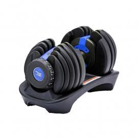 24KG Powertrain Adjustable Home Gym Dumbbell - Blue