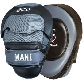 Gel Curved Focus Punch Hit Curved Training Boxing Pads Coaching - Grey