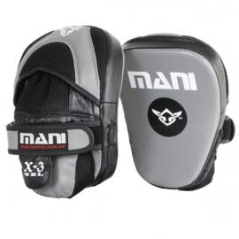 Curved Leather Focus Punch Hit Curved Training Boxing Pads Grey/Black