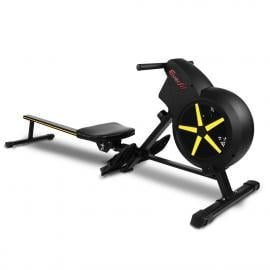 Rowing Exercise Machine Rower Resistance Home Gym Cardio Air - Yellow