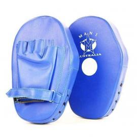 Leather Curved Punch Hit  Curved Training Coaching Focus Blue Pad