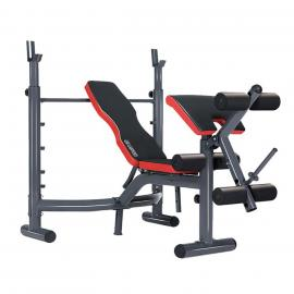 Powertrain Incline Decline Workout Bench Press with Preacher Curl