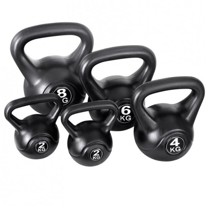 5 pc Kettlebell kit exercise weights