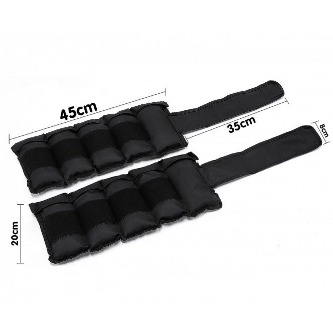 2x 5kg Adjustable Ankle Exercise Running Weights Image 4 image 4