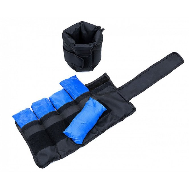2x 5kg Adjustable Ankle Exercise Running Weights Image 5 image 5