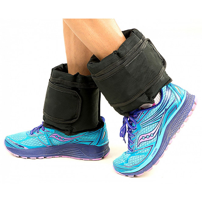 2x 5kg Adjustable Ankle Exercise Running Weights Image 2 image 2