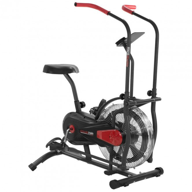PowerTrain Air Resistance Elliptical Exercise Spin Bike - AB4500 - Black
