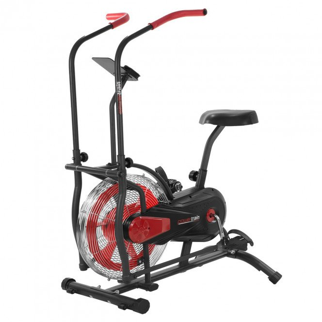 Powertrain Air Resistance Assault Exercise Spin Bike - Red