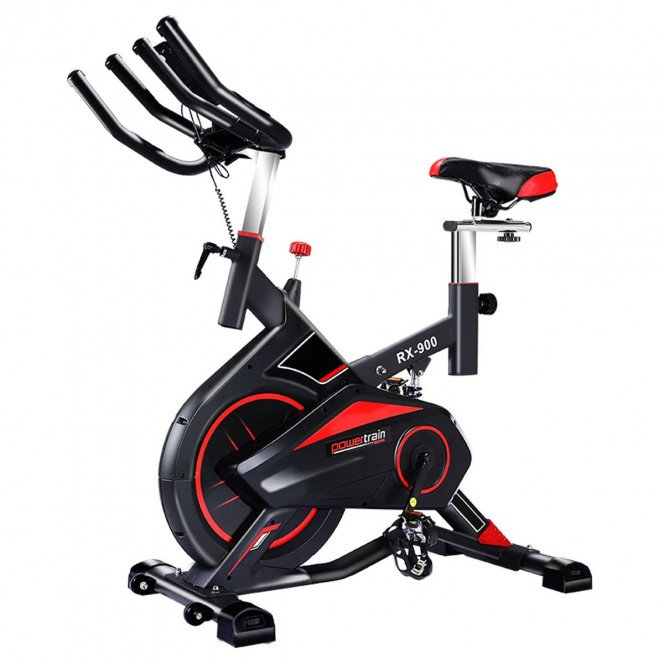 Powertrain RX-900 Exercise Spin Bike Cardio Cycle - Red