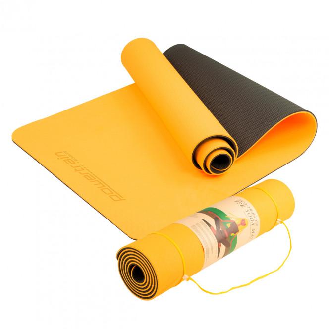 Powertrain Eco Friendly TPE Yoga Exercise Mat - Orange