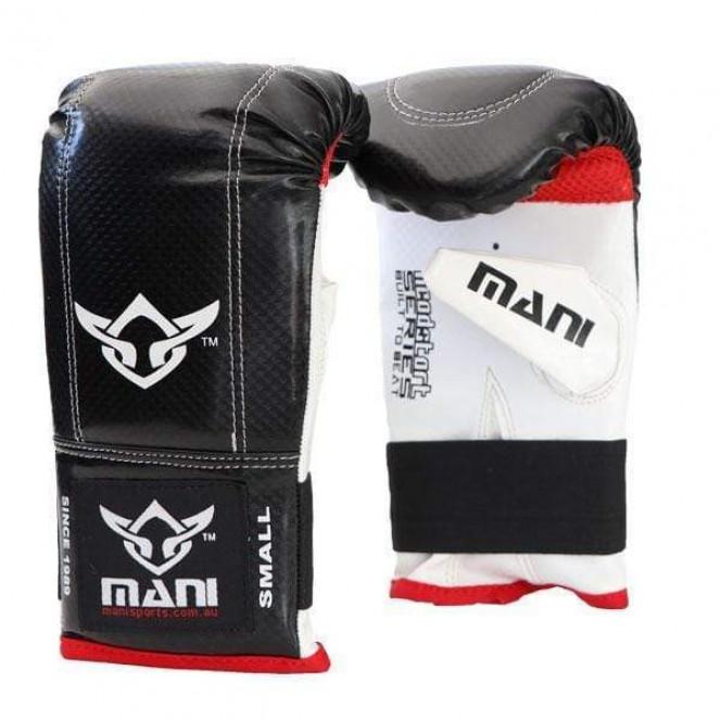 Head Start Bag Mitts Gym Punching Boxing Gloves Black/White/Red