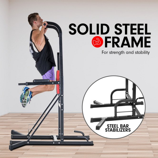 Powertrain Power Tower Home Gym for Pull-Ups, Push-Ups, Leg Raises, and Dips Image 2 image 2