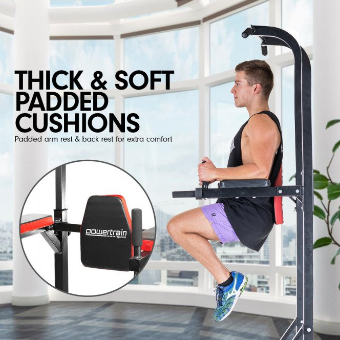Powertrain Power Tower Home Gym for Pull-Ups, Push-Ups, Leg Raises, and Dips Image 3 image 3