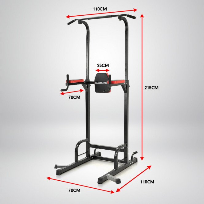 Powertrain Power Tower Home Gym for Pull-Ups, Push-Ups, Leg Raises, and Dips Image 6 image 6