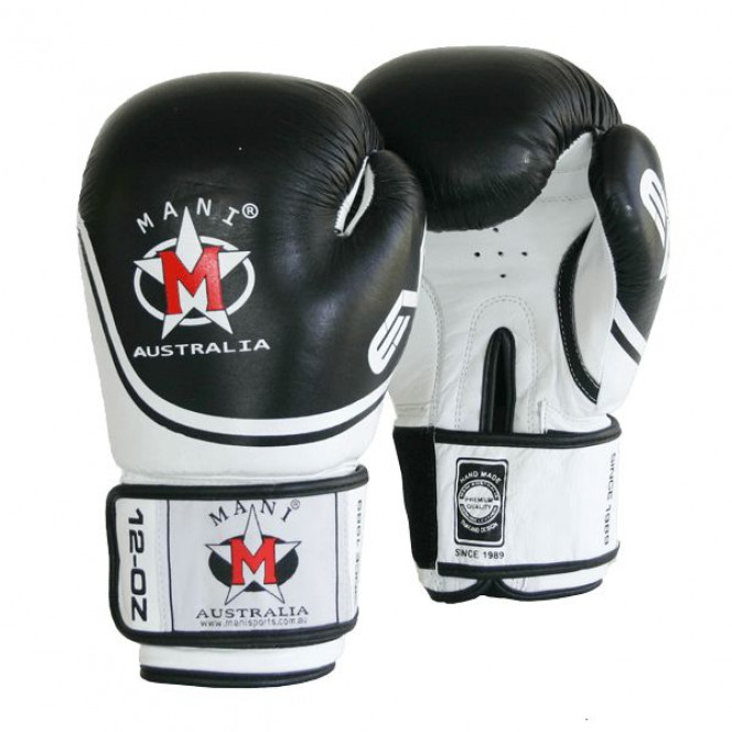 Evo Leather Boxing  Punch Mitts Gloves Punch Training Black/White