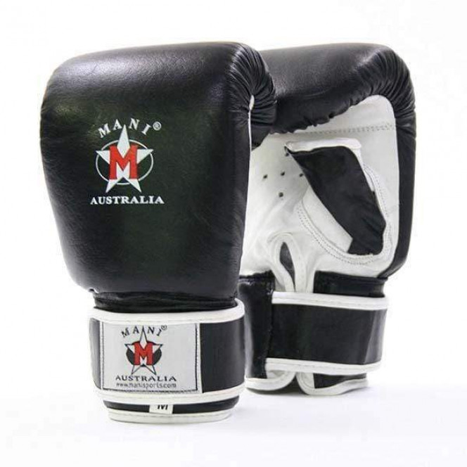 Professional Leather  Mitts Gym Sports Black White