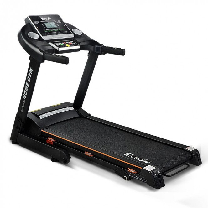 Home Electric Treadmill 3 Level Incline 18 Speed - Black