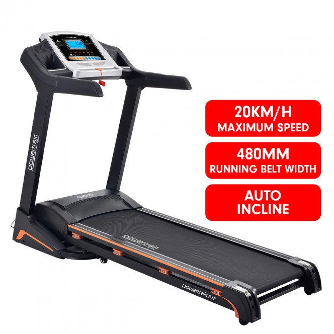 PowerTrain Treadmill MX2 Cardio Running Exercise Fitness Home Gym