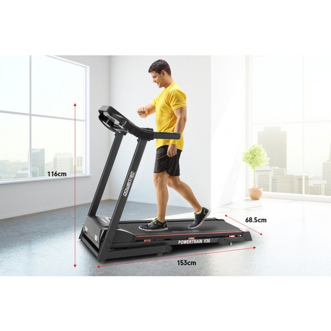 Powertrain V30 Foldable Treadmill Manual Incline Home Gym Cardio Image 12 image 12