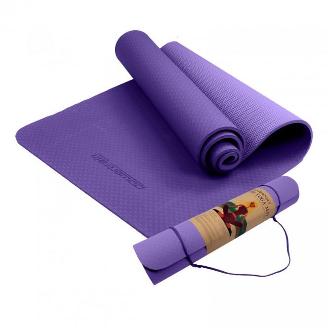 Powertrain Eco Friendly TPE Yoga Exercise Pilates Mat 6mm- Lilac